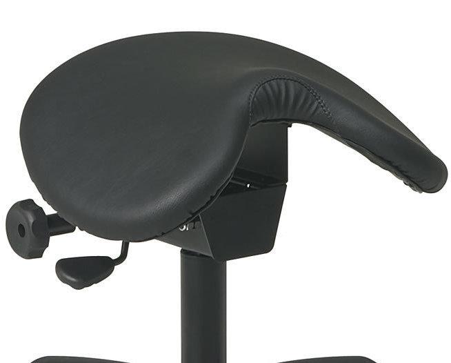 Ergonomic Saddle Seat Chair - Low Dental Medical Stool w/5 Star Base & Wheels