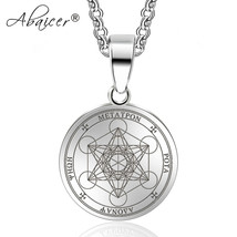 Abaicer Seals of Archangel Angel Pendant Choker Statement Silver Sigil S... - $18.29