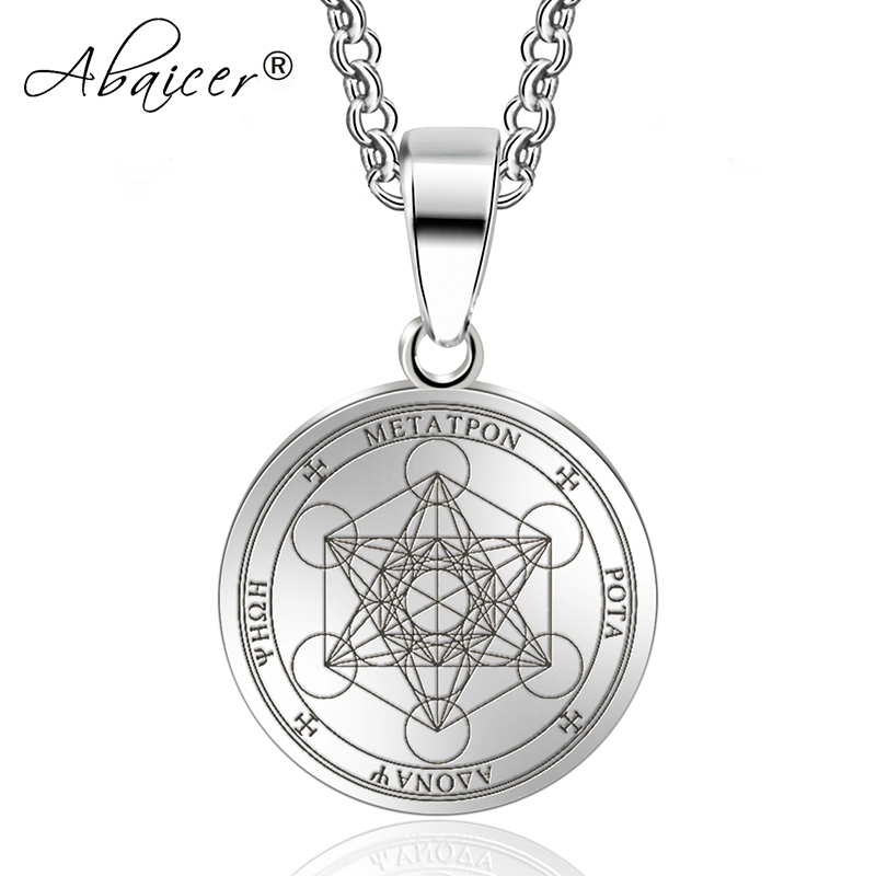 Primary image for Abaicer Seals of Archangel Angel Pendant Choker Statement Silver Sigil Stainless