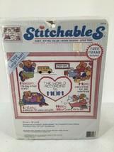 "Stitchables Counted Cross Stitch Kit Mom's World 10"" X8""  Frame 1992 #72... - $9.49"