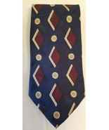 EUC Briar 100% Silk Art Deco Optic Geometric Spiderweb Web Mens Tie Necktie - $9.70