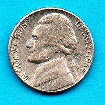 1964 D Circulated Jefferson Nickel  - $0.15
