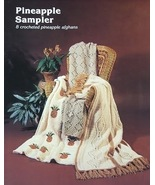 Crochet Pattern Leaflet PINEAPPLE SAMPLER 8 Gorgeous Afghans - $4.99
