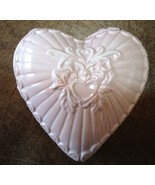Ceramic Heart Shaped Candle - Light Gingham Scent - Pink - $12.50