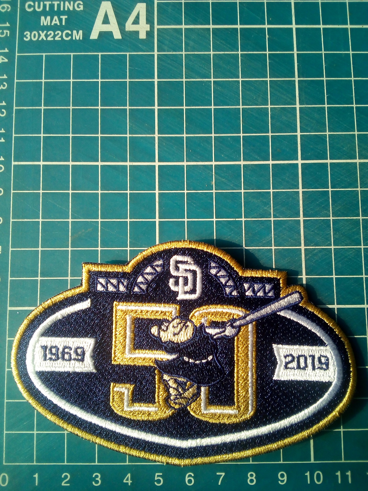 "Primary image for 2019 San Diego Padres 50th anniversary Baseball-MLB Patch 4.5""Jersey Embroidered"