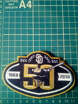 "2019 San Diego Padres 50th anniversary Baseball-MLB Patch 4.5""Jersey Emb... - $14.99"