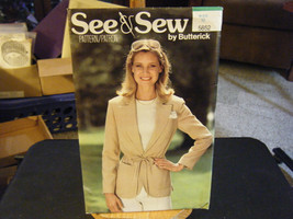 Butterick See & Sew Misses Unlined Jacket Pattern - Size 16 Bust 38 - $8.39
