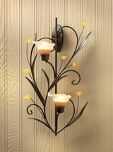 Amber Lillies Candle Wall Sconce - $19.95