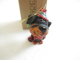 Christmas Ornaments WHOLESALE- Russ BERRIE- #18702- Brown DOG- W/FANGS New -W3 - $2.70