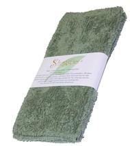 """Janey Lynn Designs Olive U Green Shaggies 10"""" x 10"""" Cotton Chenille Wash... - $6.79"""