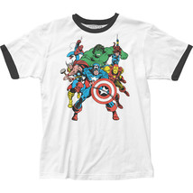 Authentic Marvel Comics The Avengers Team Ringer T-shirt Adult soft unis... - ₹1,854.86 INR+
