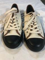Coach Empire Outline  Shoes Size 8.5B  A9309 * Cream W/black Soles. - $29.70
