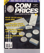 COIN PRICES. November 1998 - $4.95 CAD
