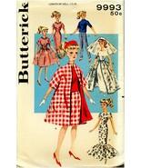 "Butterick Pattern 9993 11-1/2"" Fashion Dolls Teen Age Doll Wardrobe UNCUT! - $26.99"