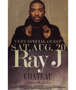 RAY J @ CHATEAU Nightclub Las Vegas Promo Card - $1.95