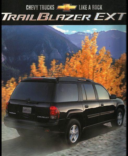 2002 Chevrolet TRAILBLAZER EXT brochure catalog US 02 Chevy