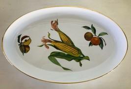 """Evesham Gold Oval Dish Porcelain Royal Worcester Fruit Gold Trim 14-5/8 x 9-1/4"""" - $27.67"""