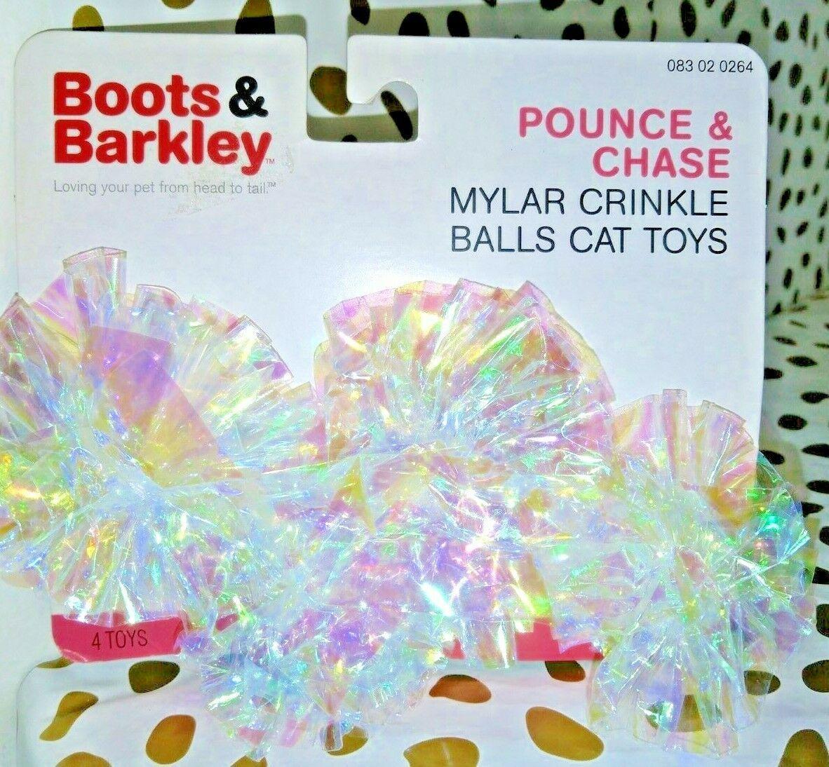 Boots & Barkley  Pounce & Chase Mylar Crinkle Balls Cat Toys  store --NEW!