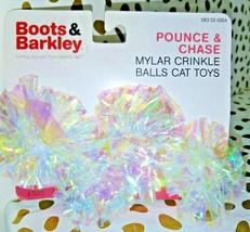 Boots & Barkley  Pounce & Chase Mylar Crinkle Balls Cat Toys  store --NEW! image 1