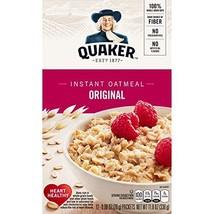 Quaker Instant Oatmeal Regular, 1 box 12- .98 oz packets, net weight 11.8 oz