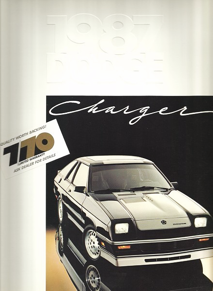 1987 Dodge CHARGER brochure catalog US 87 Omni 024 SHELBY