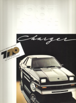 1987 Dodge CHARGER brochure catalog US 87 Omni 024 SHELBY - $8.00