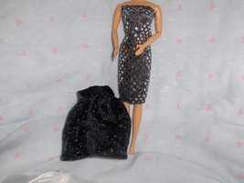 Silver Glitter Dot Party Dress with detachable Skirt fits Barbie and oth... - $10.95