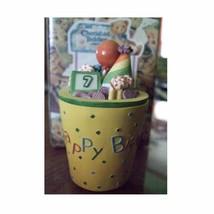 Enesco Cherished Teddies Covered Box Birthday Age 7 - $8.00