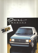 1987 Dodge OMNI AMERICA sales brochure catalog US 87 - $6.00