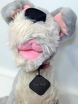 """Vintage Disney Tramp Plush Dog Grey Stuffed Animal Metal DogTag 14"""" image 11"""