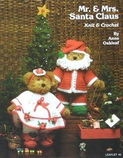 Knit & Crochet Pattern MR & MRS SANTA CLAUS Complete Outfits! JAO Pattern Book