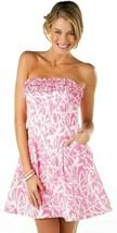 Lilly Pulitzer Ferra Hotty Pink Light My Fire Ruffle Strapless Dress - $112.50