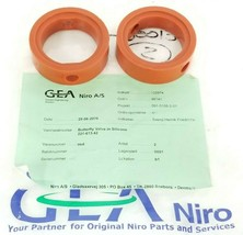 LOT OF 2 NEW M&S 3'' GASKETS GEA NIRO A/S 51-500130 FOR BUTTERFLY VALVE