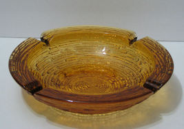 Vintage Anchor Hocking Amber Soreno Large Table Ashtray - $14.99