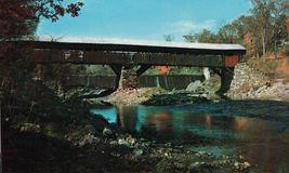 Vintage Tafsville Covered Bridge Ottauquechee River Vermont Vermont - $3.99