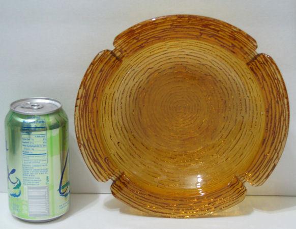 Vintage Anchor Hocking Amber Soreno Large Table Ashtray