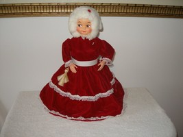 Vintage Mrs. Santa Claus Doll -  60s - 70s Joy Dish soap bottle sand filled - $20.00