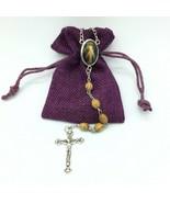 Divine Mercy Rosary olive wood Jerusalem Divina Misericordia Rosario de ... - $13.86