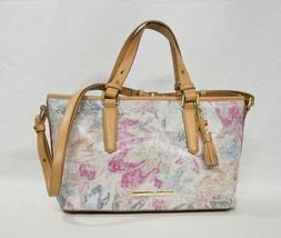 NWT Brahmin Mini Asher Leather Satchel/Shoulder Bag in Creme Talitha - $199.00