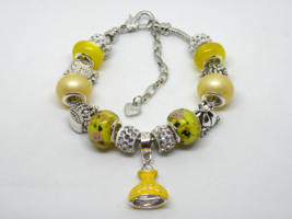 Beauty and the Beast European Murano Beaded Bracelet. Gift bag included - $19.95