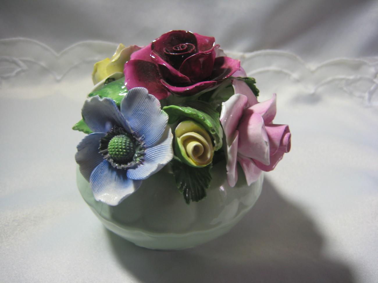 Royal Bone China Floral basket