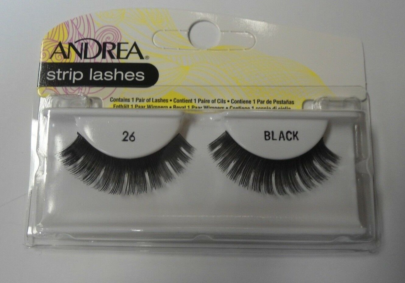 Primary image for Andrea's Strip Lashes Fashion Eye Lash Style 26 Black - (Pack of 6)