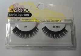 Andrea's Strip Lashes Fashion Eye Lash Style 26 Black - (Pack of 6) - $21.99