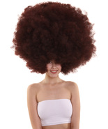 Super Size Jumbo Afro Collections Party Brown Wig HW-3841 - $36.85