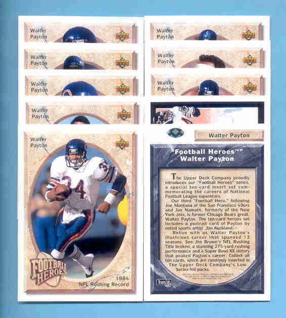 Primary image for 1992 Upper Deck Walter Payton Football Heroes Set Chicago Bears