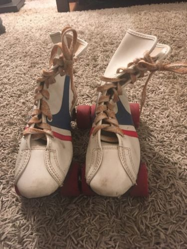 Primary image for Vintage 1960's-70's Fireball Official Roller Derby Skates, Red/White/Blue, Sz 3