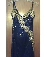EVENING GOWN BLACK with SEQUINS NEW SIZE 8 - $195.00