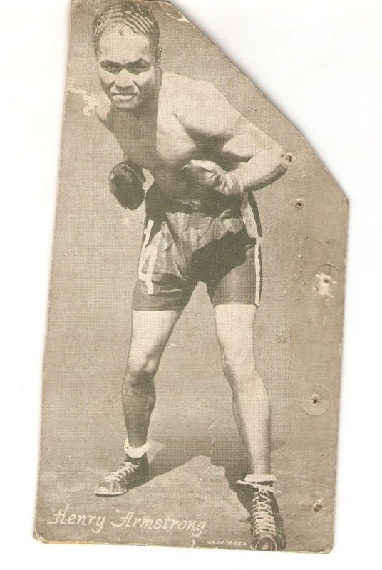 HENRY ARMSTRONG BOXING CHAMPION Exhibit Card