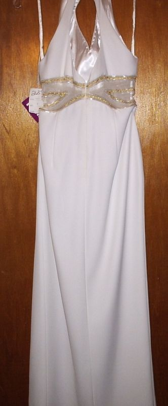 PARTYTIME WHITE EVENING GOWN SIZE 8 NEW