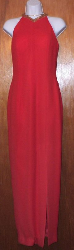 VINTAGE  CIRE--RED SIZE 8  EVENING GOWN  New